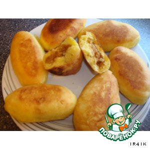 Рецепт: Сладкие творожные пирожки с яблоками