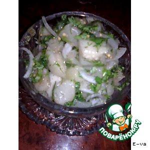 Рецепт: Салат из баклажанов «Фальшивые грибы»