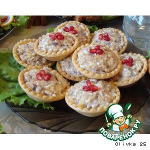 Рецепт: Тарталетки с печенью трески