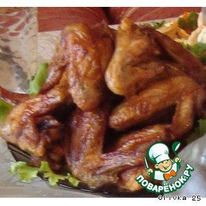 Рецепт: Куриные крылышки Крылья дьявола
