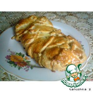 Рецепт: Слоeный пирог с рыбой и картофелем