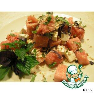 Рецепт: Салат с арбузом и фетой
