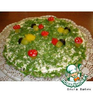 """Рецепт: Закусочный торт """"Осенняя поляна"""""""