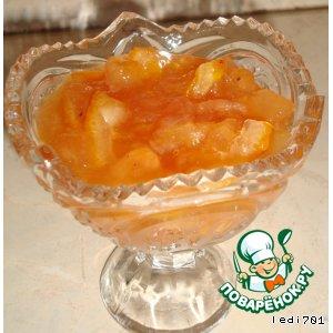 Рецепт: Варенье из яблок и апельсинов