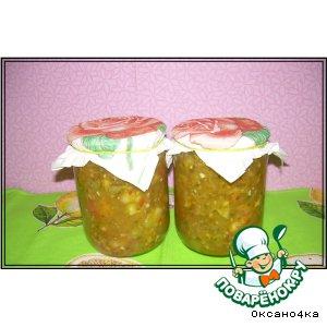 Рецепт: Салат из зелeных помидоров
