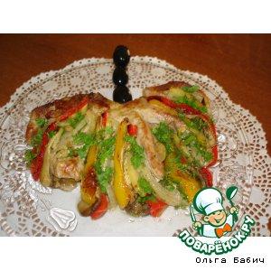 Рецепт: Мясной веер с овощами
