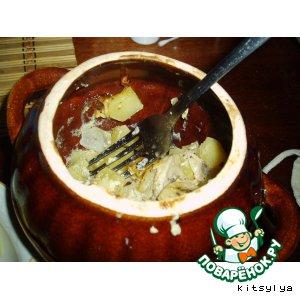 Рецепт: Картошка в горшочках