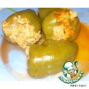 Рецепт: Перец фаршированный вегетарианский
