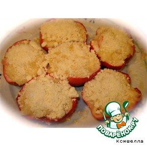 Рецепт: Яблоки с творогом в микроволновке