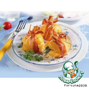 Рецепт: Картофель в  пальто из бекона