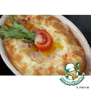 Рецепт: Суфле из сулугуни с помидорами
