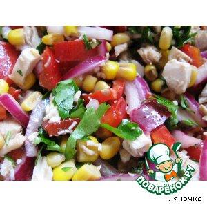 Рецепт: Разноцветный салат