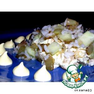 Рецепт: Салатик с копченой скумбрией