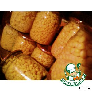 Рецепт: Сахарная консервированная кукуруза