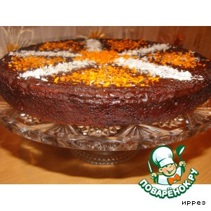 Шоколадно-кокосовый торт (без муки)