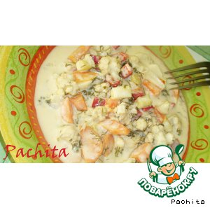 Рецепт: Овощи, маринованные в медово-сметанном соусе