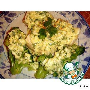 Рецепт: Рыба и брокколи под соусом Польский