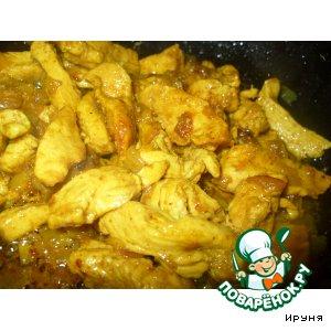 Рецепт: Курица в соусе карри Экспресс-вариант