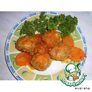 Рецепт: Мясные биточки с овощами