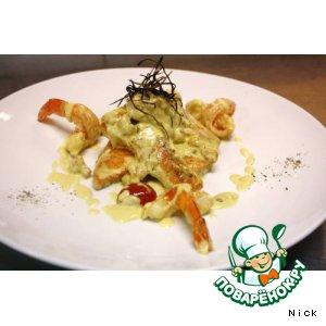 Рецепт: Лосось в креветочном соусе