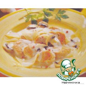 Рецепт: Свинина под грибным соусом