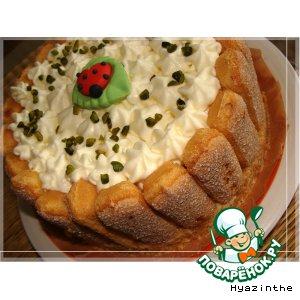 Рецепт: Торт Сливовая шарлотка