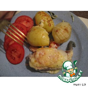 Рецепт: Форель с сыром