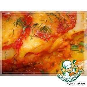 Рецепт: Картофельно-тыквенная лазанья