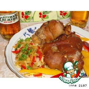 Рецепт: Свиная рулька в пиве