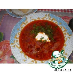 Рецепт: Борщ Полтавский
