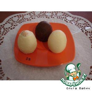 """Рецепт: Десерт """"Шоколадные яйца """""""