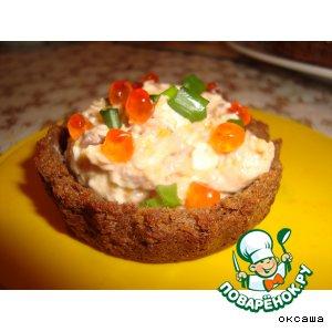 Рецепт: Хлебные тарталетки