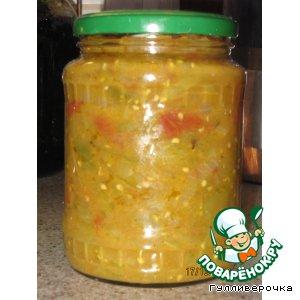 Рецепт: Салат из зеленых помидоров