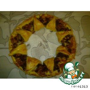 Рецепт: Слоеный пирог Кольцо