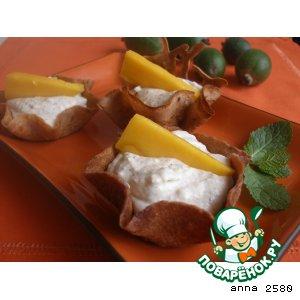 Рецепт: Тарталетки с творожно-фруктовым муссом