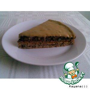 Рецепт: Ореховое пирожное к чаю