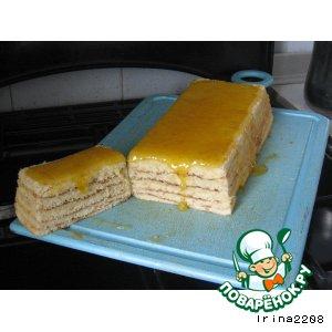 Рецепт: Кекс Слоеный в мандариновой глазури