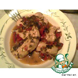 Рецепт: Курочка в винно-овощном соусе