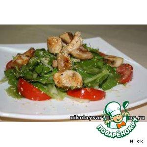 Рецепт: Салат с куриным филе и спаржей