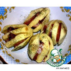 Рецепт: Картошечка с копченой грудинкой