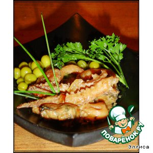 Рецепт: Морской коктейль в сливочно-соевом соусе