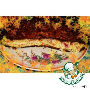 Рецепт: Пирог с капустой и брынзой «Осенний блюз»