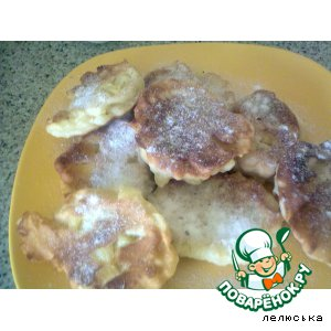 Рецепт: Яблочные оладушки