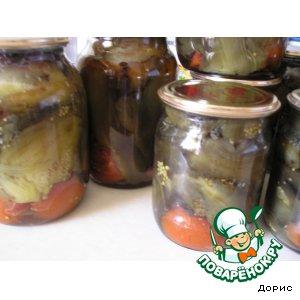 Рецепт: Баклажаны от свекрови на зиму