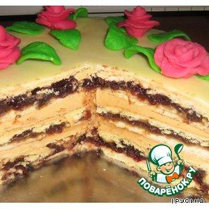 Рецепт: Торт с вишнями