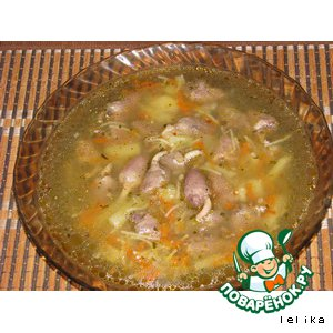 Рецепт: Суп Сердечко