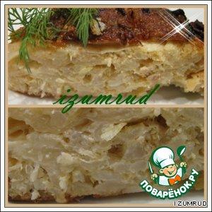 Рецепт: Капустный пирог с рыбой