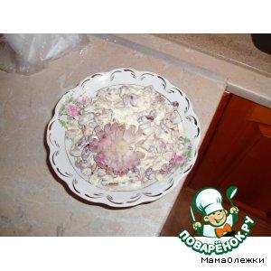 Рецепт: Фасоль с селедкой