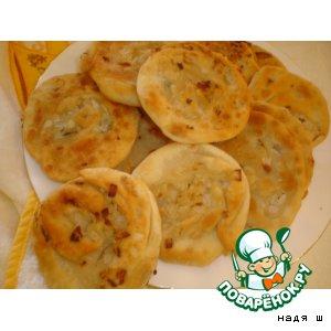 Рецепт: Узбекские лепешки с луком