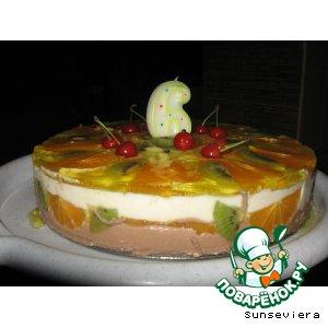 """Рецепт: Творожный десерт """"Фруктовое изобилие"""""""